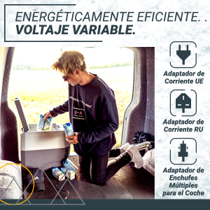 , Nevera Congeladora Portátil con Compresor de Bluefin Active 35L