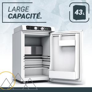 , Mini Réfrigérateur Congélateur Compresseur 3-Modes Bluefin Active Alimenté AC | DC | GAZ (43L | 60L)