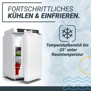 , Bluefin Active 3-Fach Kompressor-Mini-Kühl-/Gefrierschrank Gleichstrom | Wechselstrom | GAS-Stromanschluss (43 l | 60 l)