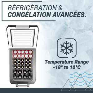 , Réfrigérateur Congélateur Compresseur Portable 42L Bluefin Active